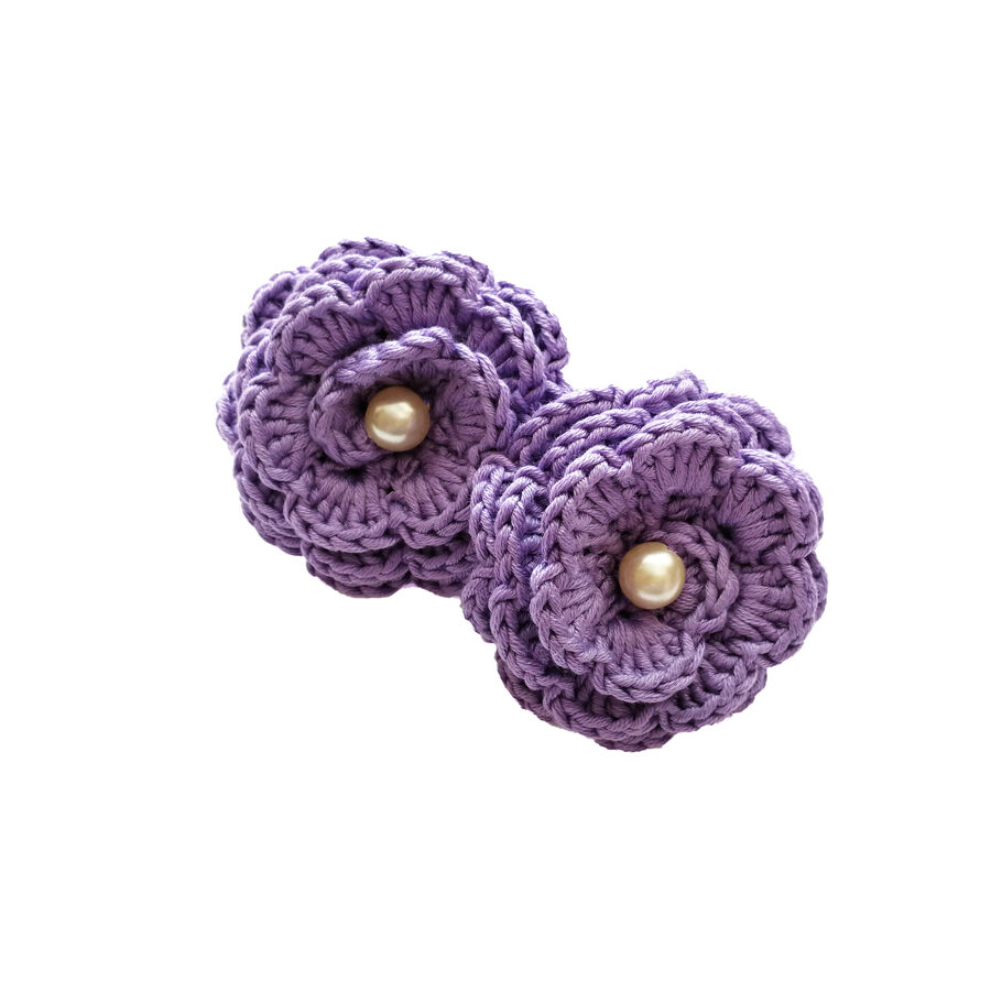 """Hair bands """"Flowers with a bead"""" (lilac)"""