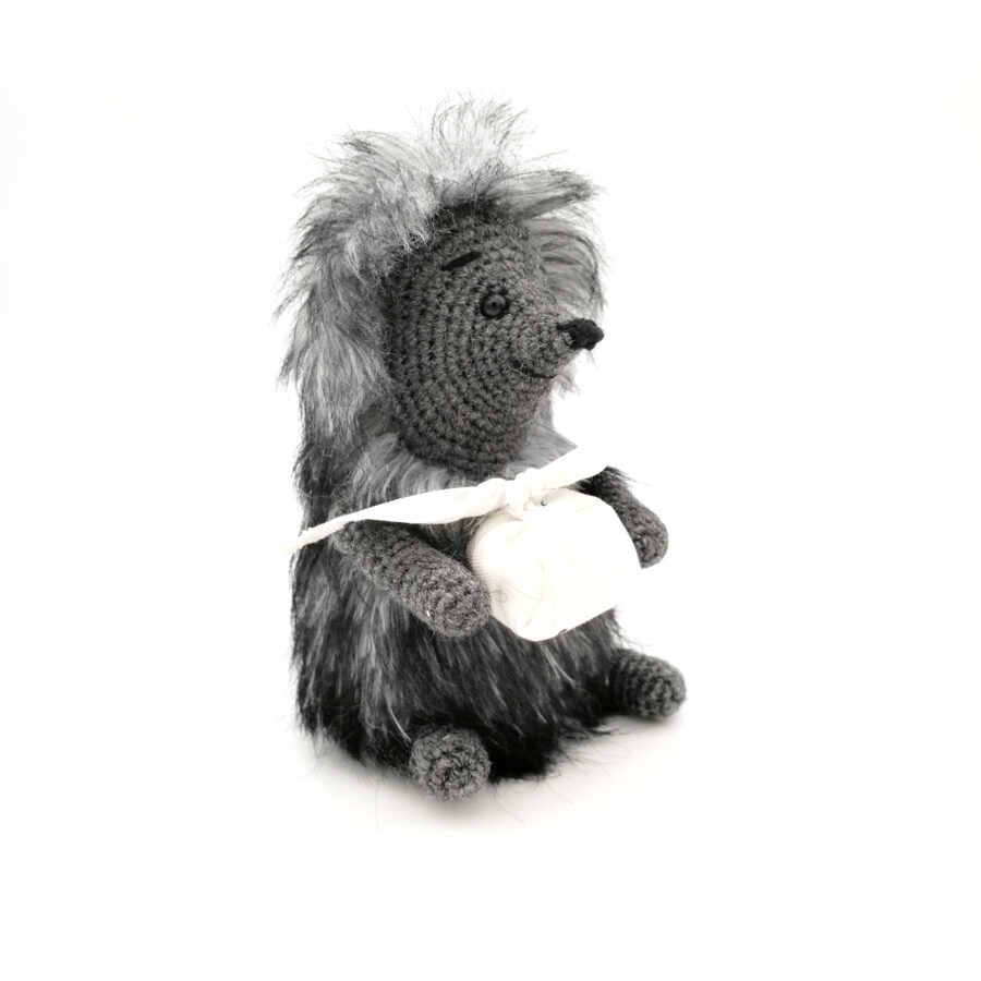 """Soft toy """"Hedgehog with a knot"""""""