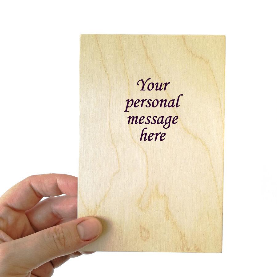 "Wooden greeting card ""Дарю тебе букетик"""