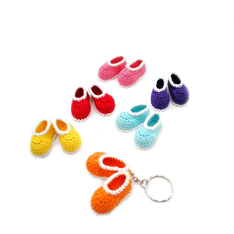"""Keychain """"Mini booties"""""""