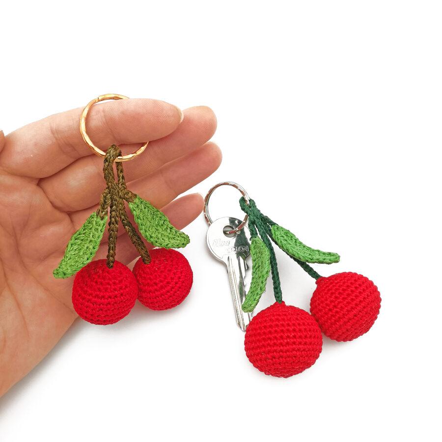 Keychain with cherry