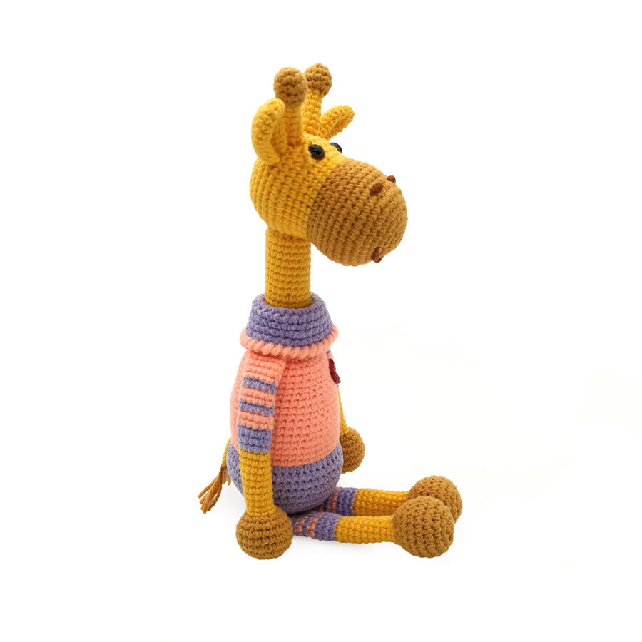 """Soft toy """"Giraffe with heart"""""""