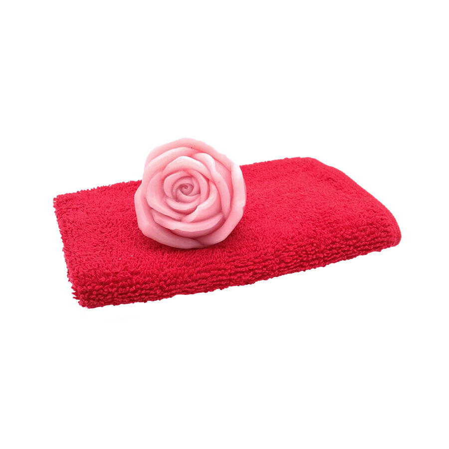 """Hand soap """"Rose"""" with hand towel"""