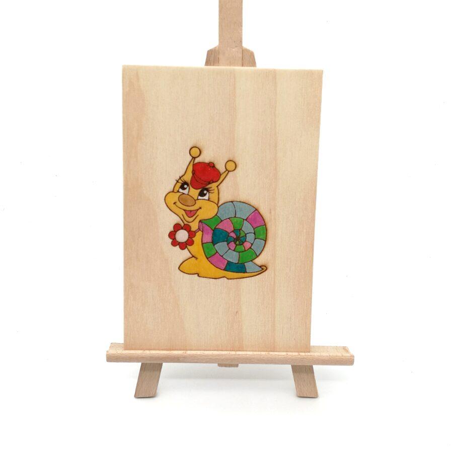 "Wooden greeting card ""С днём рождения, ХХХ"""