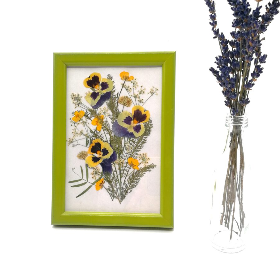 """Composition of pressed flowers """"Inspiration"""""""
