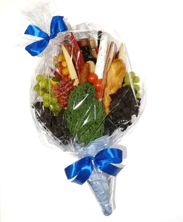 Meat and cheese bouquet for a man