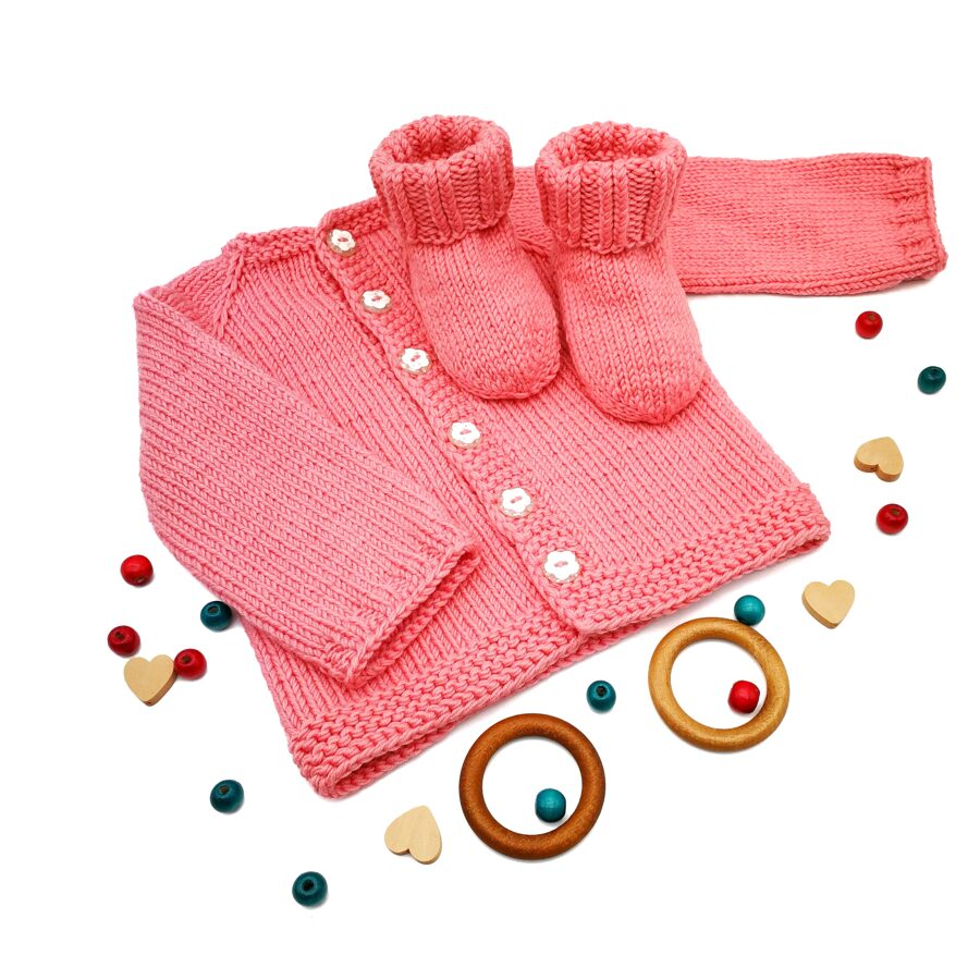 Jacket and socks for a newborn girl 3-6 months