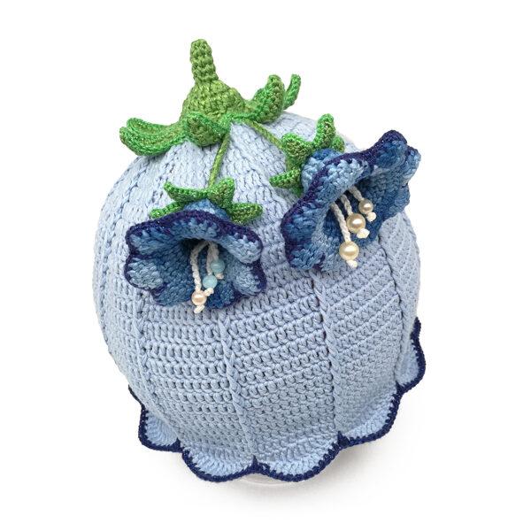 Blue bellflower hat