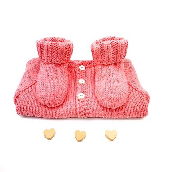 Кофточка и носочки для новорождённой девочки 3-6 месяцев